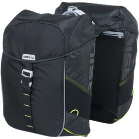 Basil Miles Double Pannier Bag MIK 34l, negro/verde